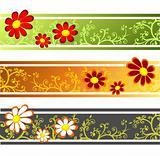 three flower strips