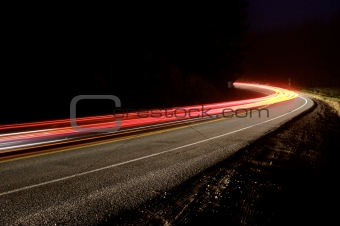Mountain Road at Night