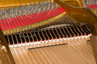 Inside Baby Grand Piano