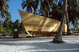 Boat being built in the Caribbean.