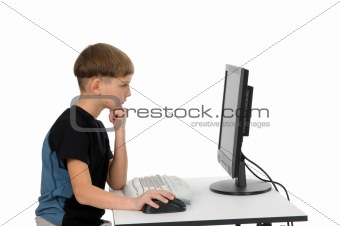 Boy on His Computer