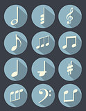 Music note flat design