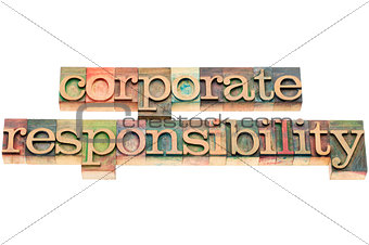corporate responsiblity in wood type