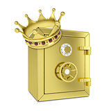 Gold crown and gold safe