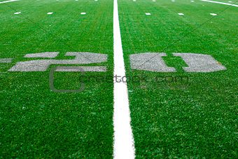 20 yard -  american football arena