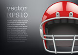 Background of  American football game. Helmet and space for text