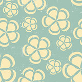 Grunge Retro flower pattern background seamless
