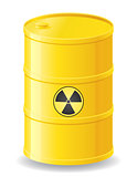 yellow barrel of radioactive waste vector illustration
