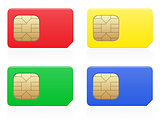 sim card colour vector illustration