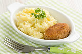 Mashed potato and fishcake