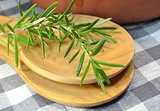 Bouquet of thyme  on wooden spoon