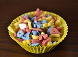 Small candies for decorating cakes