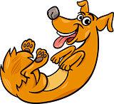 cute playful dog cartoon illustration
