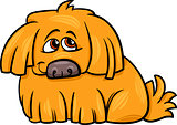 cute hairy dog cartoon illustration