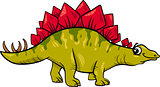 stegosaurus dinosaur cartoon illustration