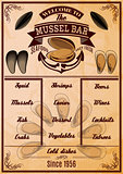 menu template with mussels