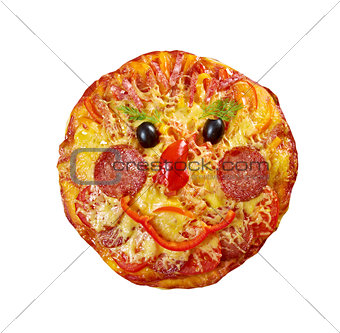Smiley Faced Pizza