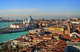 view of Venice rooftops from above, Italy
