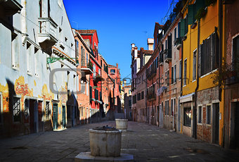 Old Venetian yard, Italy.