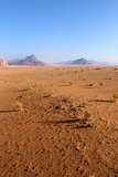 Sand pattern and beautiful landscape of the wadi rum desert