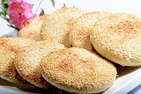 Chinese Food: Toasted Cakes with sesame seeds