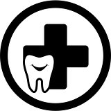 dental medicine icon with smile tooth