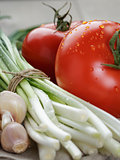 background from fresh vegetables