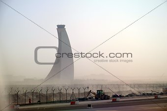 Abu Dhabi airport control tower