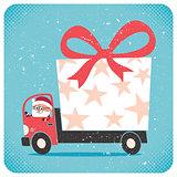 Santa Bringing Gift