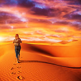 Traveler in the desert