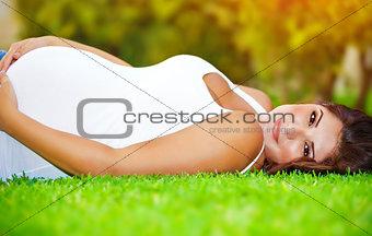 Pregnant arabic woman