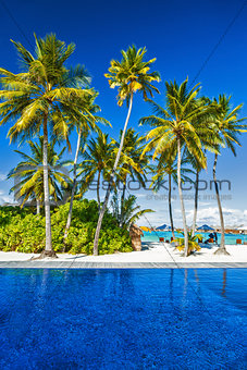 Luxury beach resort on an island