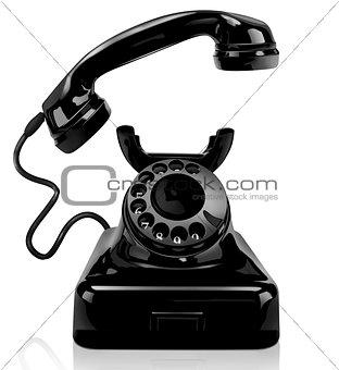 Black vintage phone
