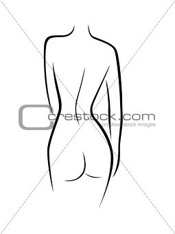 Abstract female back contour