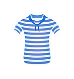 Striped sailor t-shirt with blue scarf