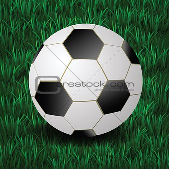 football on a grass background