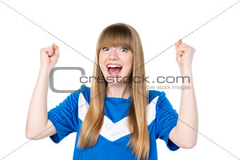 Football girl fist