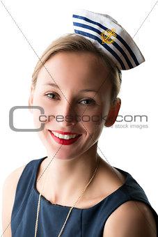 Portrait woman in sailor costume