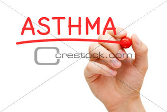 Asthma Red Marker