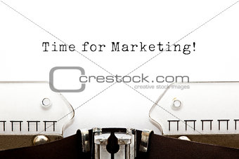 Time for Marketing Typewriter