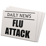 Newspaper flu attack