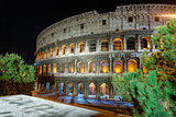 Night view of Colosseo