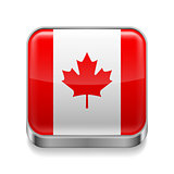 Metal  icon of Canada