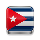 Metal  icon of Cuba