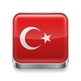 Metal  icon of Turkey