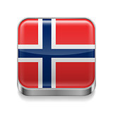 Metal  icon of Norway
