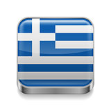Metal  icon of Greece