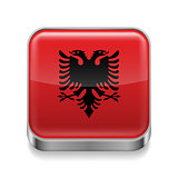 Metal  icon of Albania