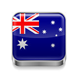 Metal  icon of Australia