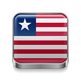 Metal  icon of Liberia